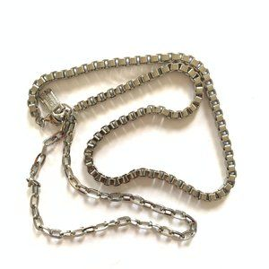 H&M • Silver Micro Chain Link Necklace